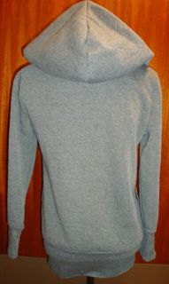 Fleece Lined Double Breast Zipper Zip Hooded Long Sweat Shirt Hoodie