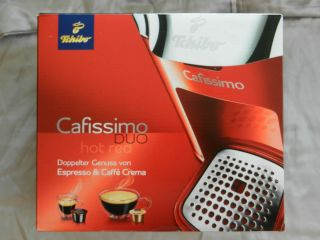 Tchibo Cafissimo DUO Hot Red Kapselmaschine Neu