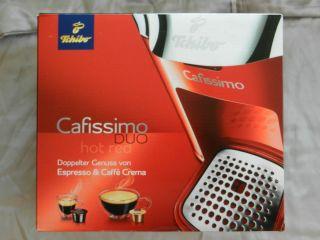 Tchibo Cafissimo DUO Hot Red Kapselmaschine Neu