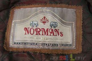Normans Lederjacke braun gefüttert Gr. XL