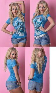 NEU   Sexy Shirts Mädchen Tops Damen Shirt Coole Oberteile Party Top