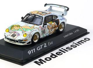43 Minichamps Porsche 911 (993) GT2 Evo #68 Le Mans 1998 Naked Lady