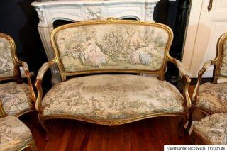 antik Rokoko großer Salon Tapisserie Gobelin Louis XVI Barock