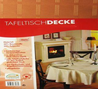 Tischdecke Tafeltischdecke 130x160 cm terra