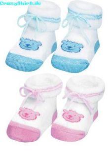 PLAYSHOES Erstlingssöckchen Socken NEU Baby rosa blau Söckchen