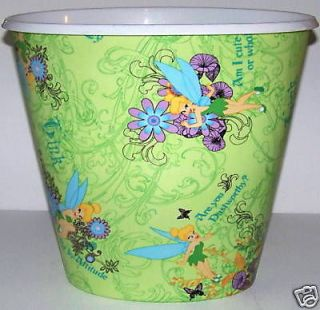 WALT DISNEY TINKERBELL LIME GREEN BED BATH WASTEBASKET