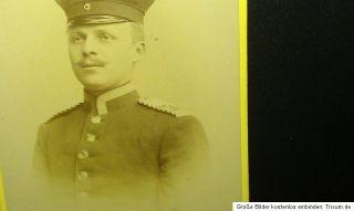 Zwei alte Soldaten Fotos auf Pappe , Hannover Regiment 74 ?