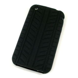 Silikonhülle zu Apple iPhone 3GS 3G Schwarz Reifen Look