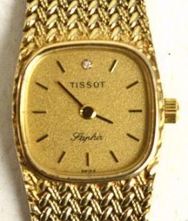 TISSOT SAPHIR 585 GOLD Uhr Damenuhr Golduhr DIAMANT  37,15 gr