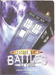 Dr Who Battles In Time Exterminator 121 153 Common Cards Choose Your