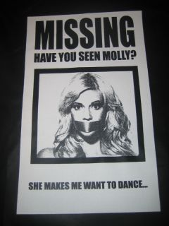 HAVE YOU SEEN MOLLY? Adult Humor Deadmau5 Madonna No Drugs Dance Funny