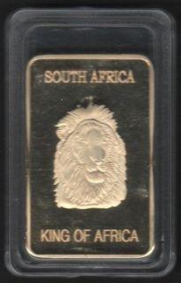 Barren KING SOUTH AFRICA KRÜGERRAND / 999 vergoldet *RARITÄT*