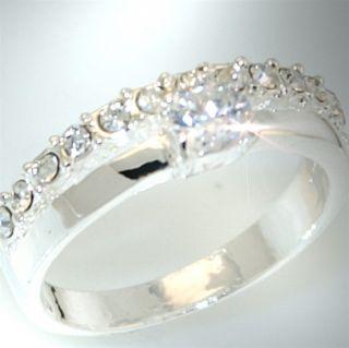 R998/17 NEU Luxus Damen Ring Zirkonia Silber Schmuck