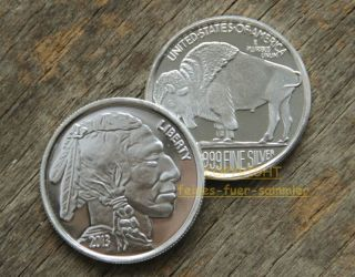 Oz 999 SILBER INDIANER INDIAN HEAD LAKOTA SIOUX BISON MUNZE 2013 USA