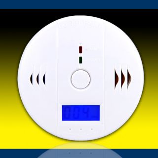 CO Kohlenmonoxid Alarm Melder Rauchmelder Gasmelder LED DISPLAY BLUE