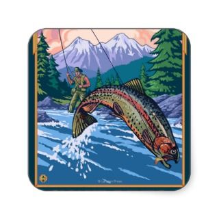 Fly Fishing Scene   Snake River, Idaho Sticker