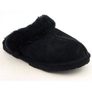 Bearpaw Tegan Slippers Winter Scuffs Shoes Black Womens Shoes