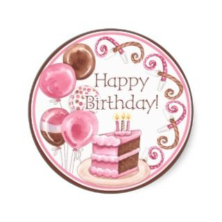 Sweet Sweets Happy Birthday Sticker