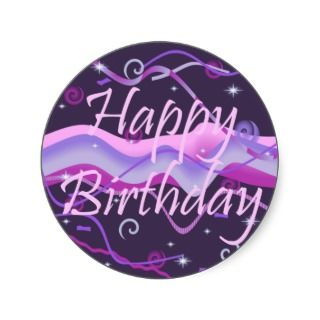 Girls Happy Birthday Sticker
