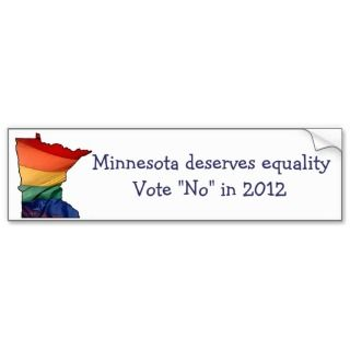 vote no to support gay marriage bumper stickers