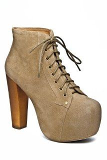 Jeffrey Campbell Lita High Heel Bootie   Taupe Suede Shoes