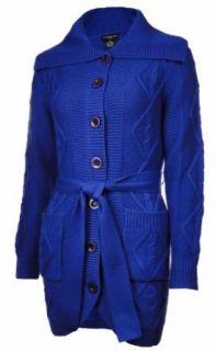 Sutton Studio Womens Merino Wool Cable Sweatercoat