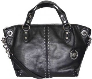 Michael Kors Black Leather Astor Large Chain Satchel Tote