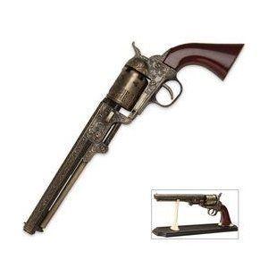 1851 Black Powder Outlaw Revolver Replica & Stand Sports