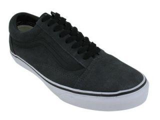 Vans Unisexs Vans Old Skool Skate Shoes 8 (Dark Shadow/Black) Shoes