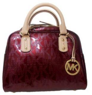 Michael Kors Bordeaux Red Signature Patent Leather Satchel