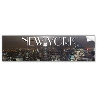 New York Bumper Sticker New York City Stickers