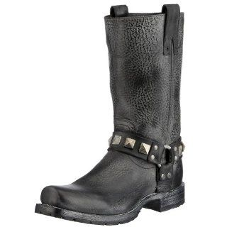 FRYE Mens Heath Studded Harness Boot Shoes