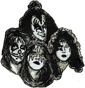 Kiss Rock Music Band Patch   Glitter Punk Faces Logo