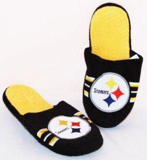 NFL Team Logo Stripe Slide Slippers House Shoes