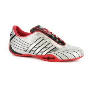 Mens Adidas Goodyear Race Silver Leather Sneakers US 10 Shoes