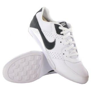 Nike Trickster White Grey Leather Mens Trainers Size 10.5 US Shoes
