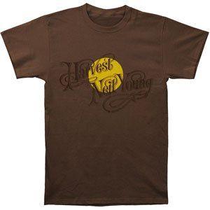 Rockabilia Neil Young Harvest Slim Fit T shirt Clothing