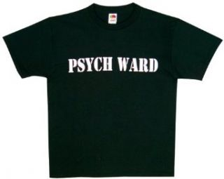 PSYCH WARD   Black Two Sided Imprinted Tee, XX Large