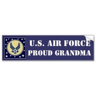 AIR FORCE GRANDMA BUMPER STICKER