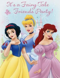 Disney Princess Fairy Tale Friends Invitations Clothing