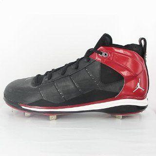 com Nike Jeter Vital Baseball Cleats (Black/Chrome/Pro Red) 14 Shoes