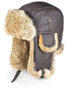 Guide Gear Leather Rabbit Fur Hat Clothing