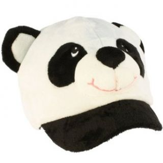Winter Panda Bear Animal Fuzzy Plush Cadet Cap Hat
