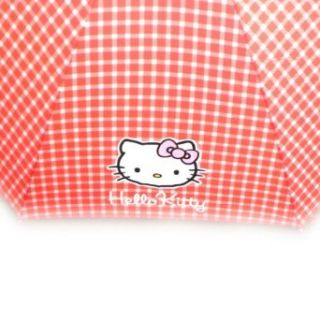 Umbrella cane Hello Kitty red gingham. Clothing