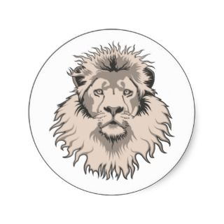 Lion Head Sticker