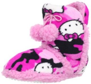 Hello Kitty Girls 7 16 Pom Pom Bootie, Pink, Large