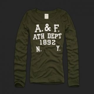 Abercrombie & Fitch Women Long Sleeve Benni   Dark Olive