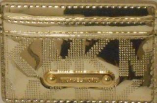Michael Kors Jetset Gold Mirror Metallic Signature Card