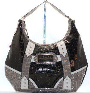 Baby Phat Croc Hobo Black Bag.nwt Shoes