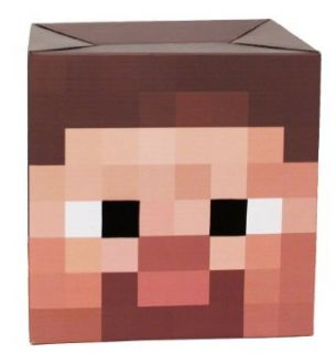 Minecraft Steve Head Cardboard Costume Mask: Clothing